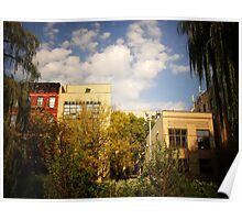 Sky Above a Garden in Alphabet City East Village Poster
