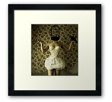 The crow and the key. Framed Print