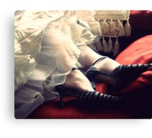 Mrs. Havisham's Zebra Heels Canvas Print