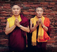Venerable Khenpo Tsewang Dongyal Rinpoche and Venerable Khenchen Palden Sherab Rinpoche by dcphotos