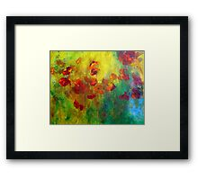 Red and Orange Poppies Framed Print