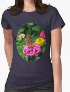 Butterfly and Zinnias T-Shirt