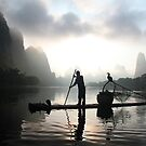 Sunrise on the Li River by Valrie Curty