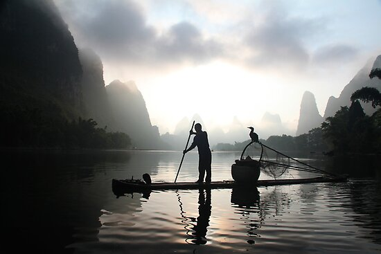 Sunrise on the Li River by Valérie Curty