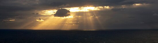 Sunrays and Ship by Odille Esmonde-Morgan