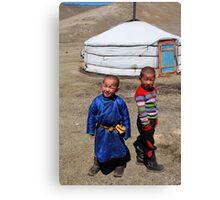 Mongolian children Canvas Print