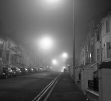 Foggy Brighton Night by Ms-Bexy