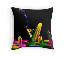 Out of the Void - Liquid Sculpture Throw Pillow