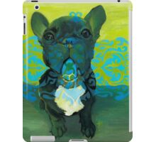 Two Tone Scroll Frenchie iPad Case/Skin