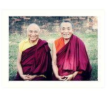 Venerable Khenpo Tsewang Dongyal Rinpoche and Venerable Khenchen Palden Sherab Rinpoche  Art Print