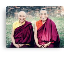 Venerable Khenpo Tsewang Dongyal Rinpoche and Venerable Khenchen Palden Sherab Rinpoche  Canvas Print