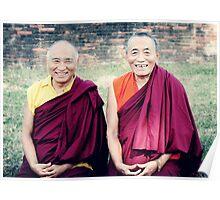Venerable Khenpo Tsewang Dongyal Rinpoche and Venerable Khenchen Palden Sherab Rinpoche  Poster