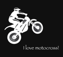 I love motocross t-shirt 2 (white logo) by Spartiatis75