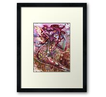 psychedelic earth faerie Framed Print