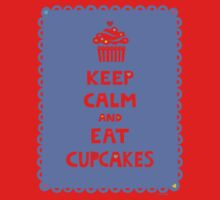 Keep Calm and Eat Cupcakes - frilly One Piece - Short Sleeve