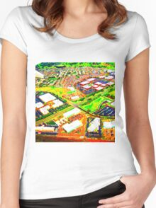 Blocks of Colour Women's Fitted Scoop T-Shirt