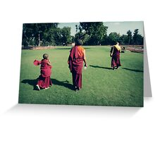 Pema, Venerable Khenchen Palden Sherab Rinpoche and Venerable Khenpo Tsewang Dongyal Rinpoche Greeting Card
