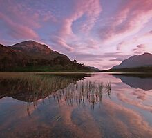 torridon reflections in the western highlands. by highlandscot