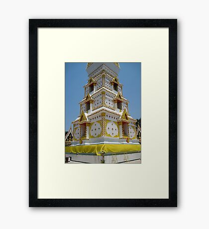 Stupa Base Framed Print