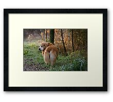 Now, can I open my eyes mom?! Framed Print