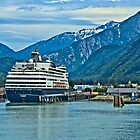 Ryndam in Skagway Harbour by Yukondick