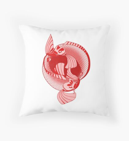 Rising Sun Print Throw Pillow