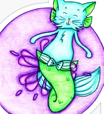 Blue and Green Catfish Sticker