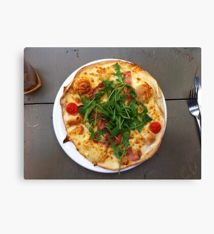 Pizza Bruschetta Canvas Print