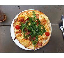 Pizza Bruschetta Photographic Print