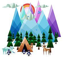 Geometrical Landscape Photographic Print