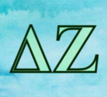 Delta Zeta Letters Sticker