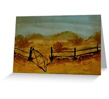 Opps Gate was Left Open! watercolor Greeting Card