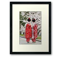 Geiko & Sakura 2 Framed Print
