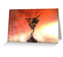 OLIVE IN MY MARTINI, PLEASE Greeting Card