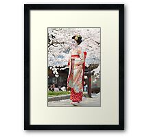 Geiko & Sakura 3 Framed Print