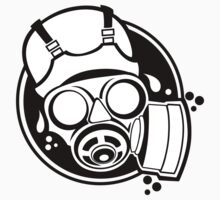 Gas Mask ! One Piece - Short Sleeve
