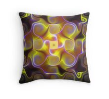 Neon Luminescences Throw Pillow