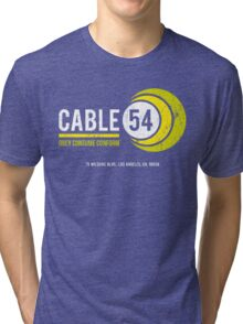 Cable 54 (worn look) Tri-blend T-Shirt