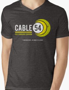 Cable 54 (worn look) Mens V-Neck T-Shirt