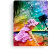 FIRST LOVE ~ SUMMER LOVE Canvas Print