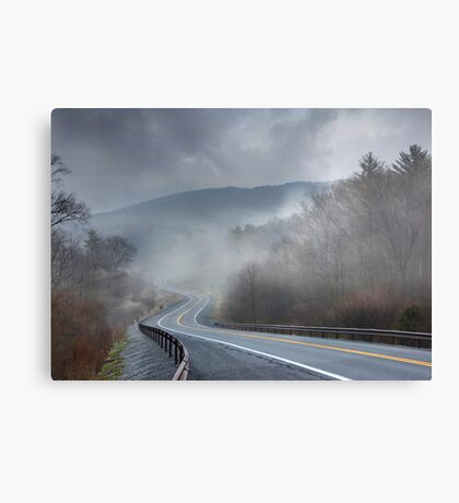 Winding Into the Mist Canvas Print