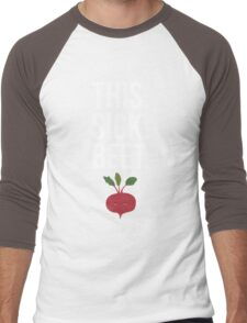 This. Sick. Beet.  Men's Baseball ¾ T-Shirt