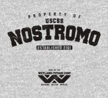 Property of USCSS Nostromo - black by KRDesign