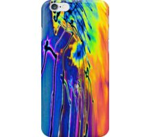 Infested Rainbow comet hair hat From outerspace! light painting abstract iPhone Case/Skin