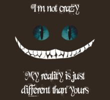 I'm not crazy. My reality is just different than yours by artemisd
