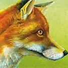 Portrait of a fox by Sarah Trett