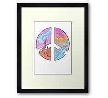 Peace - Four Elements  Framed Print