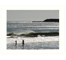 Santa Barbara Sun Splash! Art Print