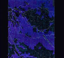USGS Topo Map Oregon Green Mountain 280095 1949 24000 Inverted by wetdryvac