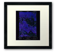 USGS Topo Map Oregon Green Mountain 280095 1949 24000 Inverted Framed Print